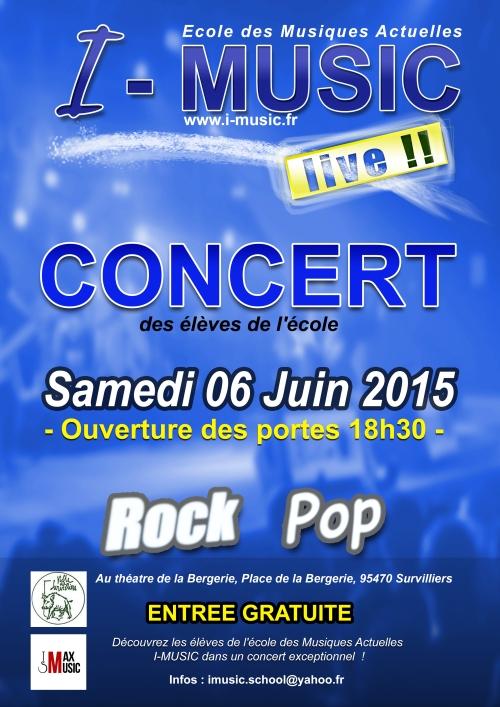 Affiche I-MUSIC Live 06 juin 2015